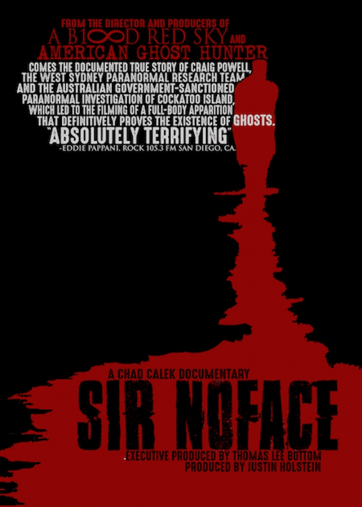 "CHAD CALEK AUTOGRAPHED ""SIR NOFACE"" PROMOTIONAL POSTER (2017)"